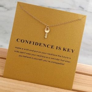Confidence Is Key Gold Chain Key Necklace